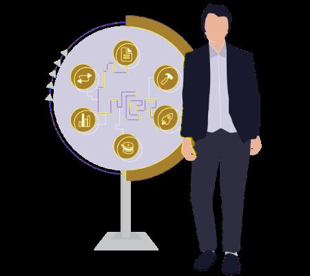Banking transformation methodology illustration