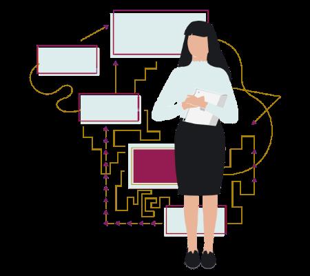 Project management methodology illustration