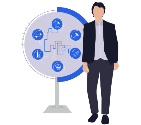 Project management office services illustration