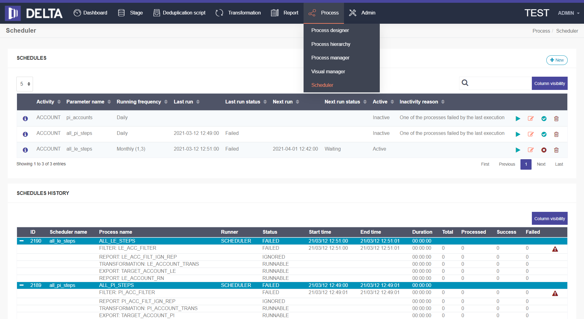 Delta migration tool screenshot 2021