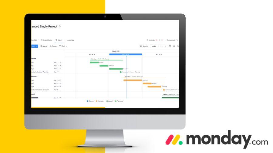 monday.com screenshot